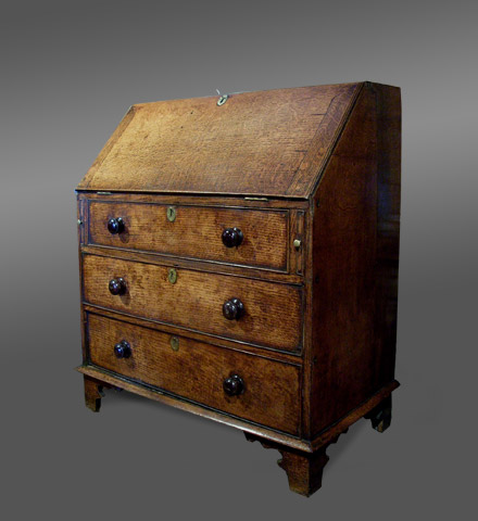 Welsh Bureau Bookcase Antique Oak