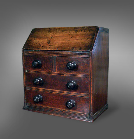 Antique Miniature Welsh oak bureau