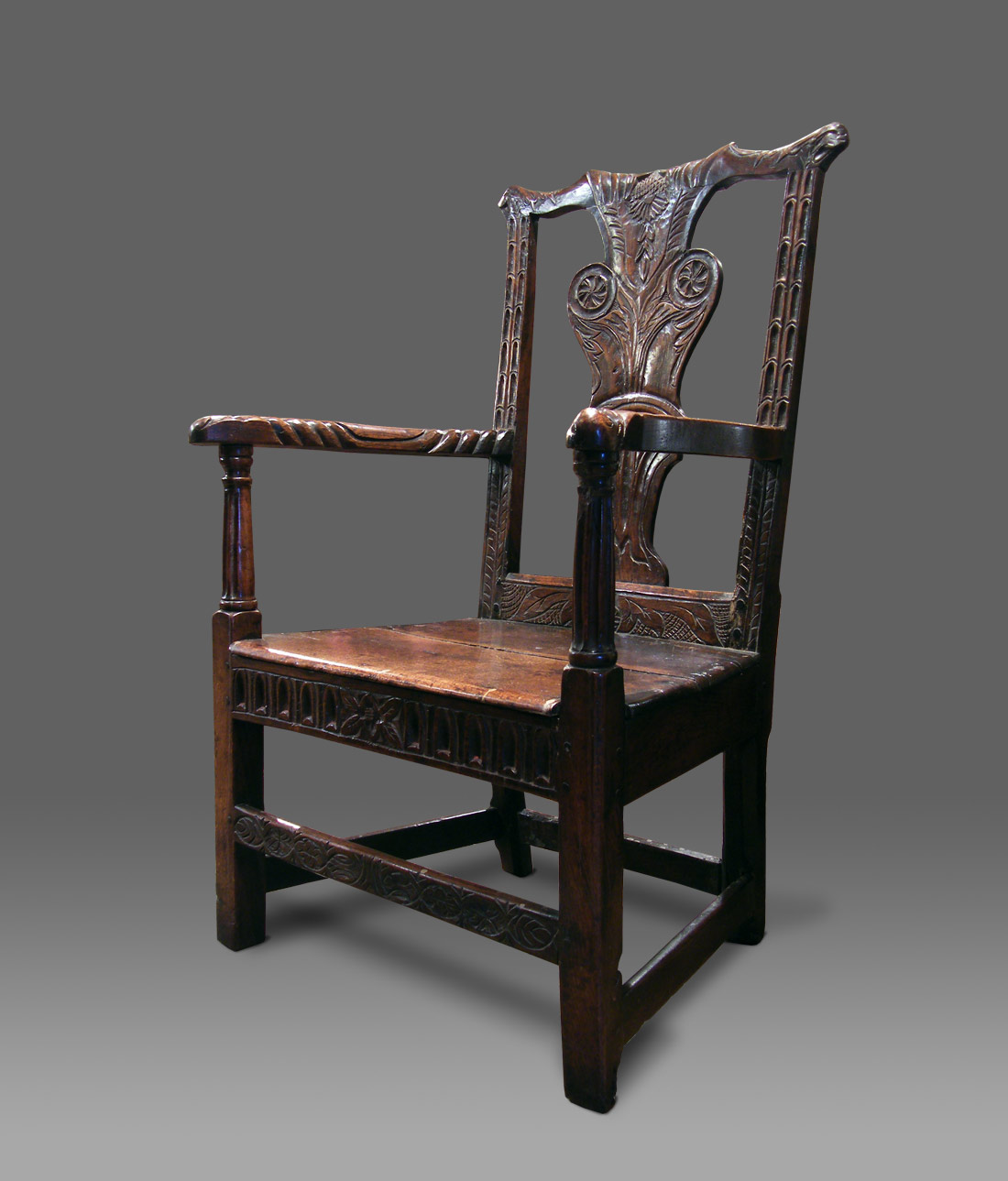ANTIQUE ARMCHAIR FROM CARMARTHENSHIRE With A Chippendale