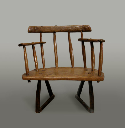 Welsh oak stick-back chair