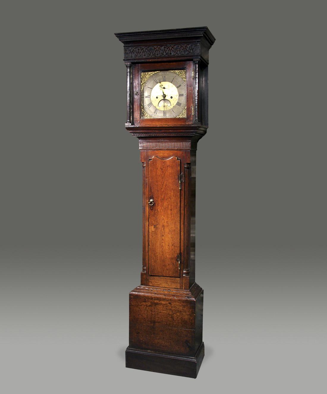 8-day walnut longcase clock by Jonas Barber of Ratclif Cross London