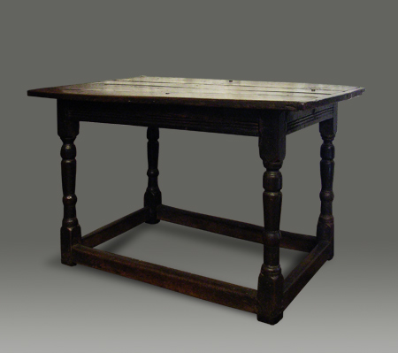 17th century oak centre table
