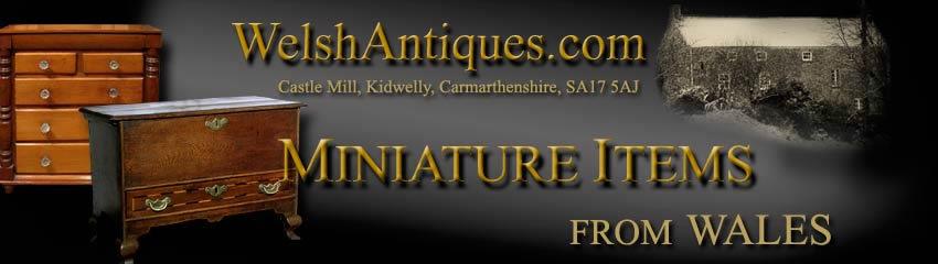 ANTIQUE MINIATURE FURNITURE Welsh Miniature antique Miniature Bureau chest  of Drawers chest , chest on chest , Chest of Drawers Miniature Chiffonier  Antique ... - ANTIQUE MINIATURE FURNITURE Welsh Miniature Antique Miniature Bureau