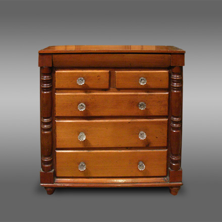 Antique Welsh miniature chest of drawers