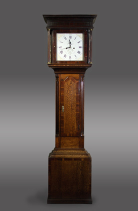 30-hour longcase clock with painted dial by Harley and Son of Shrewsbury