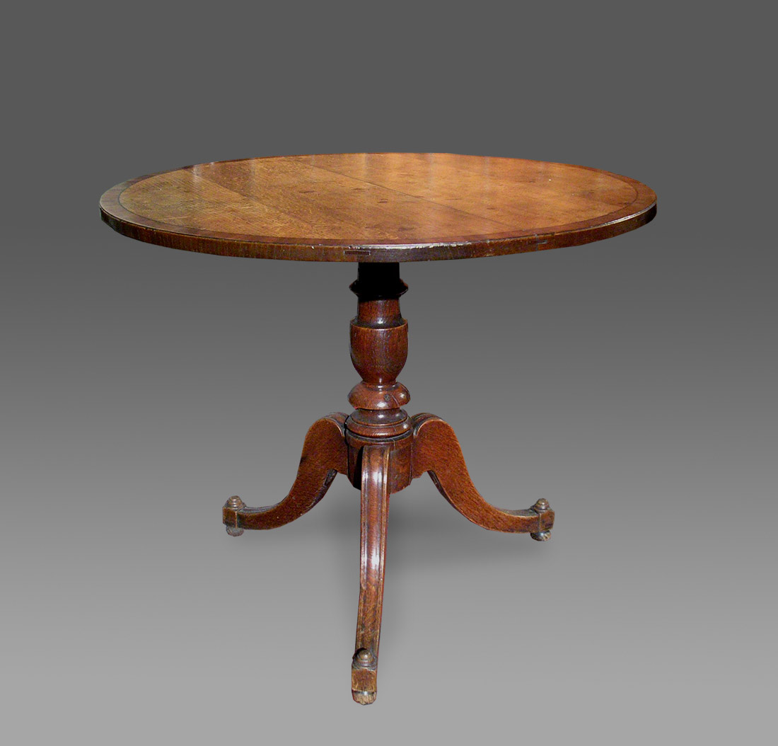 furniture table pedestal zoom french antique davenport style round