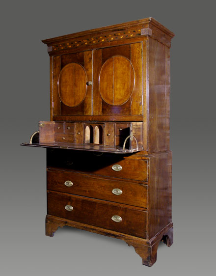 antique secretaire chest bureau bookcase welsh bureau bookcase antique secretaire chest bureau. Black Bedroom Furniture Sets. Home Design Ideas